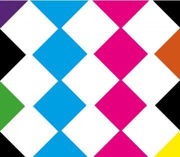 Immagine grafica che riproduce i colori e le forme del logo di progetto